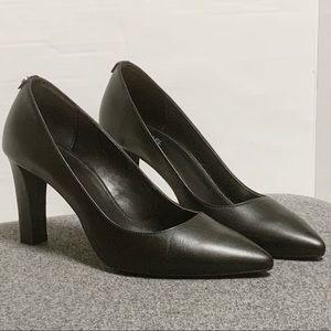 Michael Kors Black Leather Pointed Toe Heel 8.5